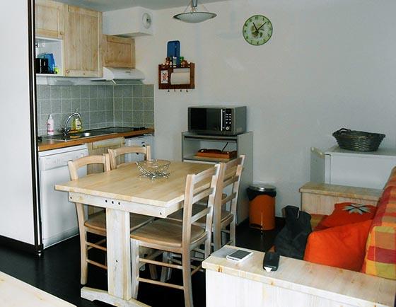 Location d'appartement à Luz-Saint-Sauveur : la pièce à vivre