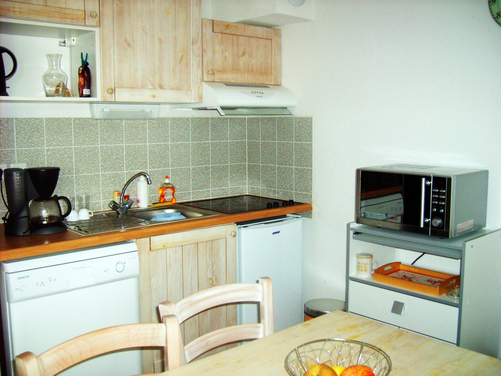 Location d'appartement à Luz-Saint-Sauveur : le coin cuisine