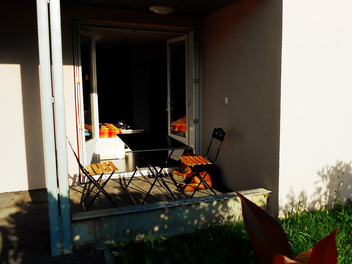 Location d'appartement à Luz-Saint-Sauveur : la terrasse en extérieur