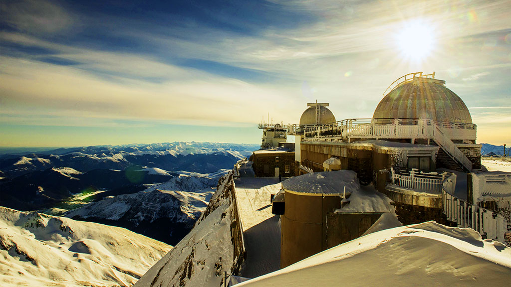 Le Pic du Midi de Bigorre en hiver